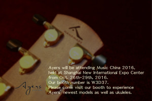 Ayers will be attending Music China 2016